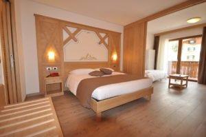 Le suite dell'Hotel Select di Andalo
